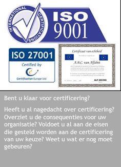 Is certificering een wens?