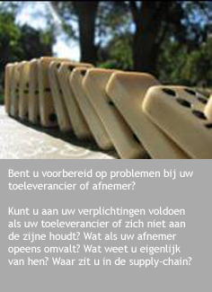 Waar zit u in de supply chain?
